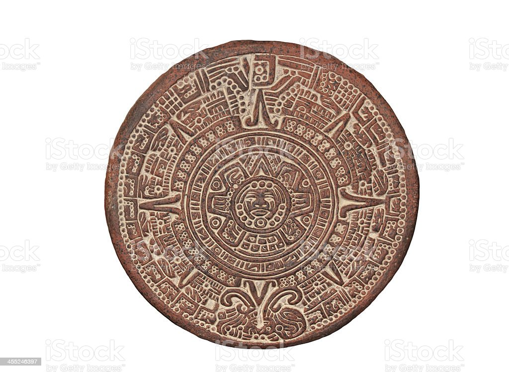 Aztec Calendar Stone stock photo