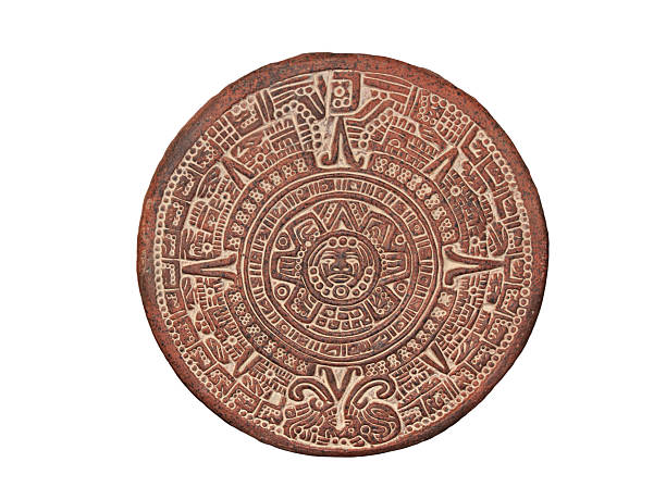 Aztec Calendar Stone stock photo
