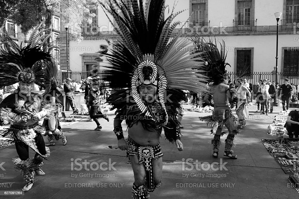 Aztec Dancers stock photo