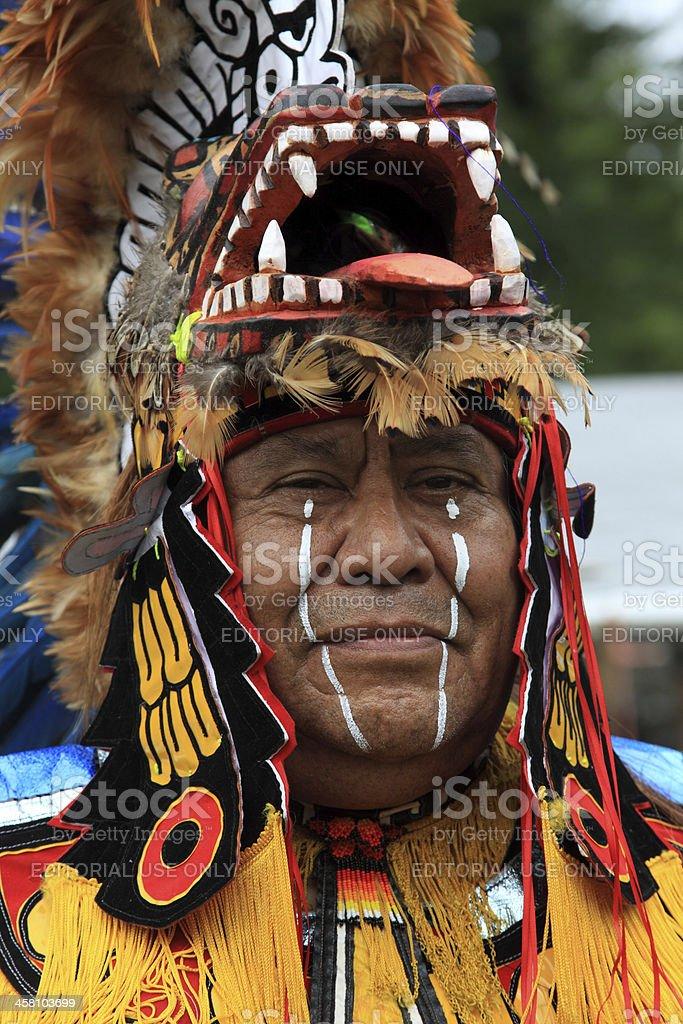 Aztec man stock photo