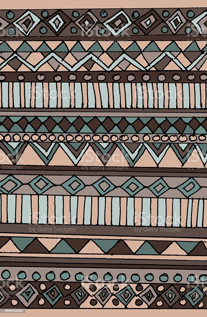 Aztec pattern stock photo