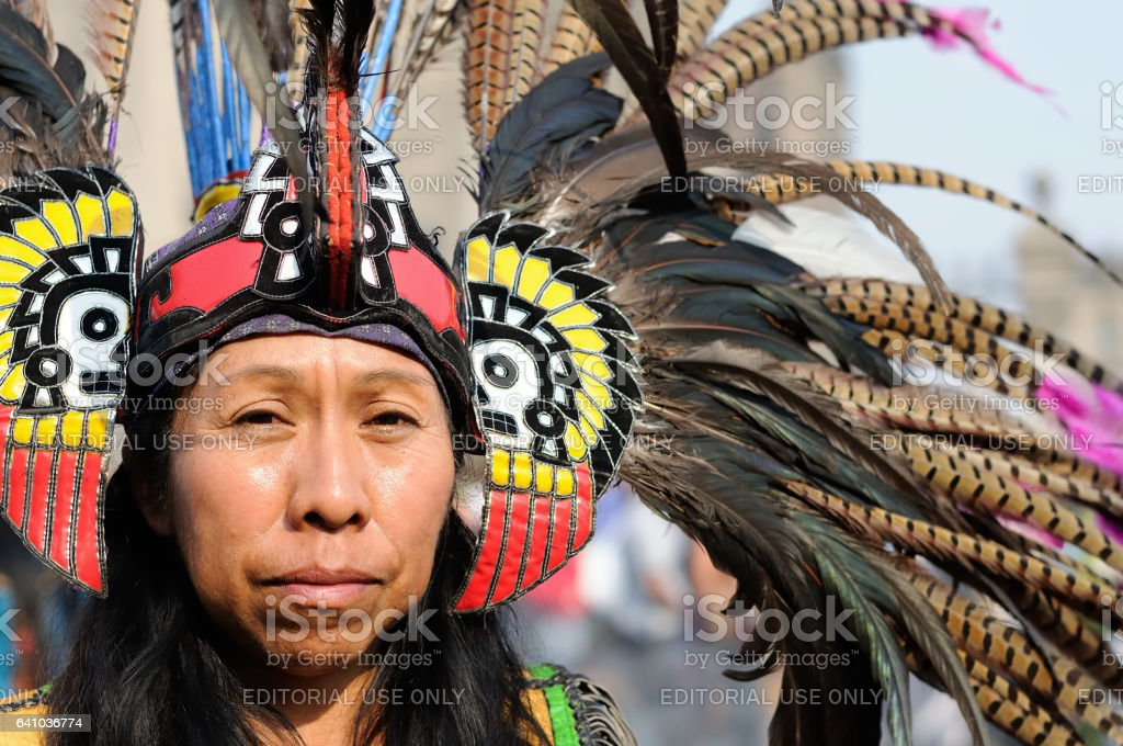 Aztec people from Mexico stock photo