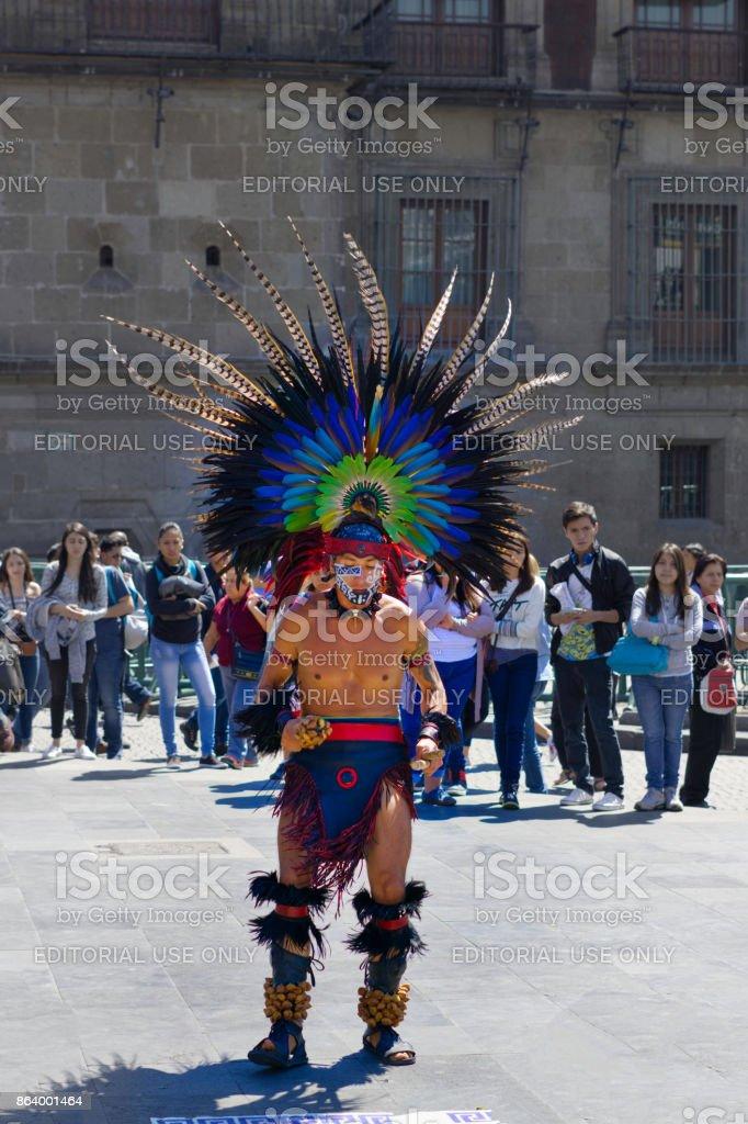Aztec plume stock photo