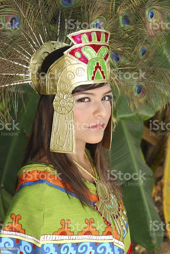 Aztec princess series 3 stock photo