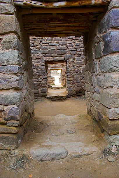 Aztec Ruins stock photo