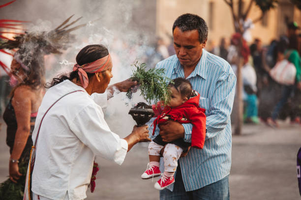 Aztekische Schamanin, Mexiko-Stadt – Foto
