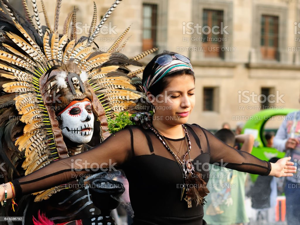 Aztec sorcerer from Mexico stock photo