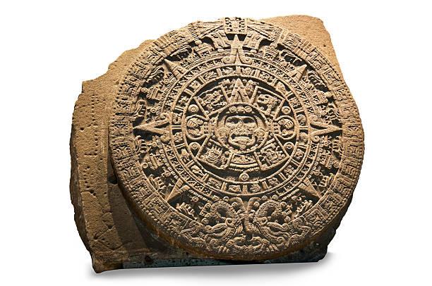 Aztec Sun Calendar stock photo