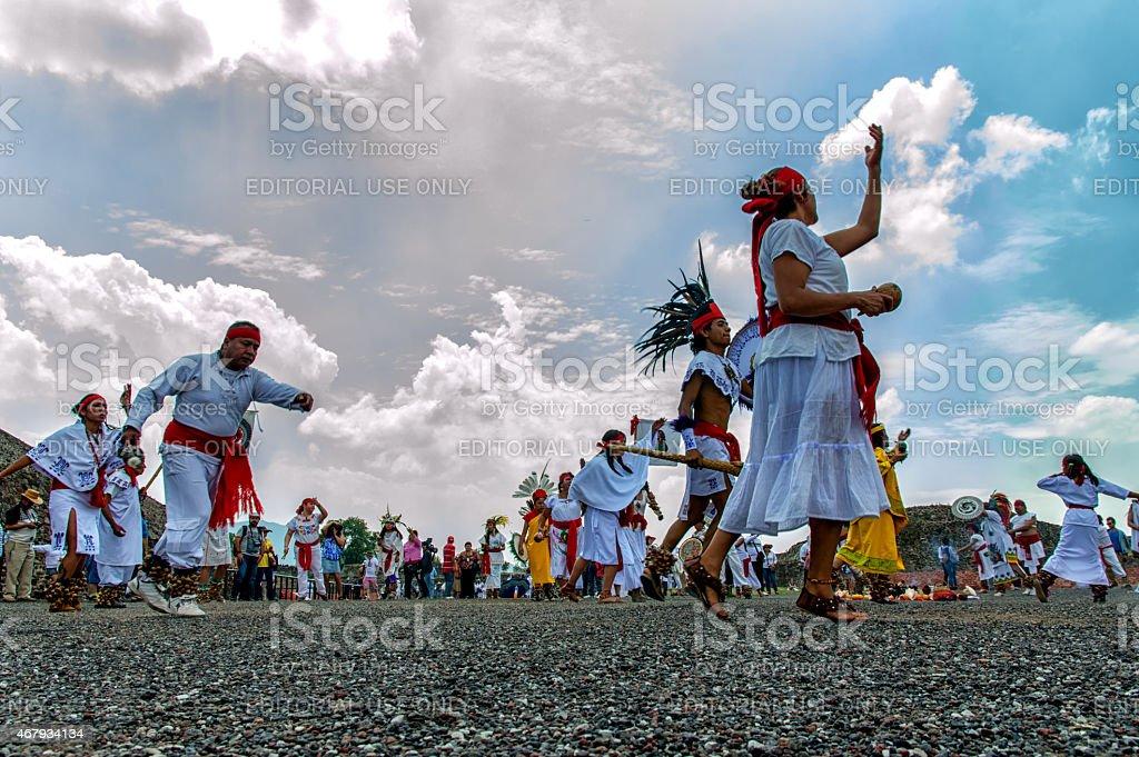 Aztecs Dancing stock photo