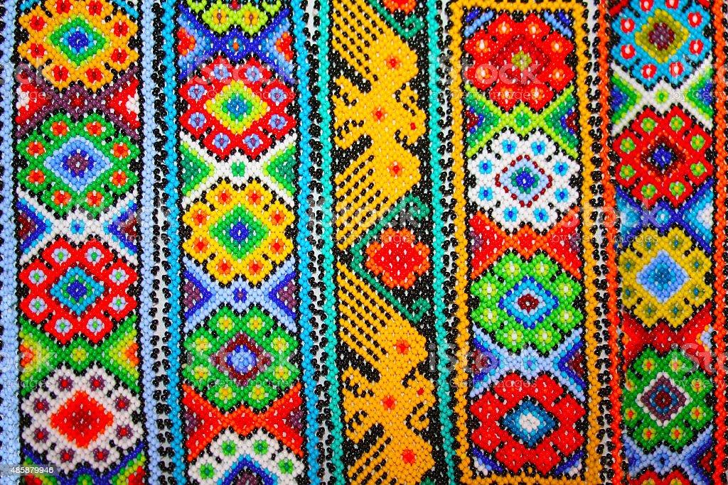 Aztecs seamless patterns in Xochimilco, Mexico stock photo