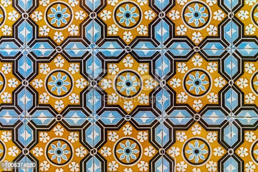 istock Azulejo, old traditional painted tiles in Portugal 1006374580