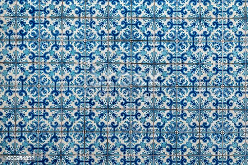 istock Azulejo, old traditional painted tiles in Portugal 1006954332