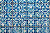Azulejo, old traditional painted tiles in Portugal