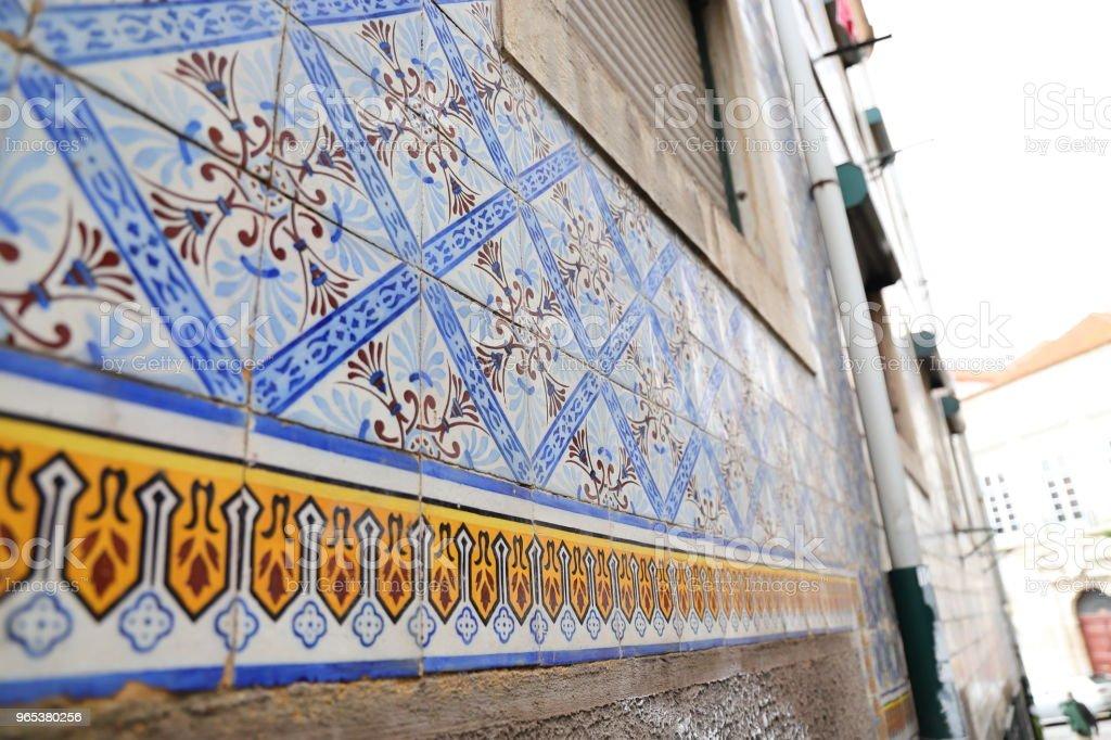 azulejo tiles in portugal royalty-free stock photo