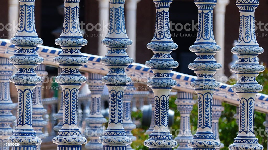 Azulejos Plaza de Espana à Séville stock photo