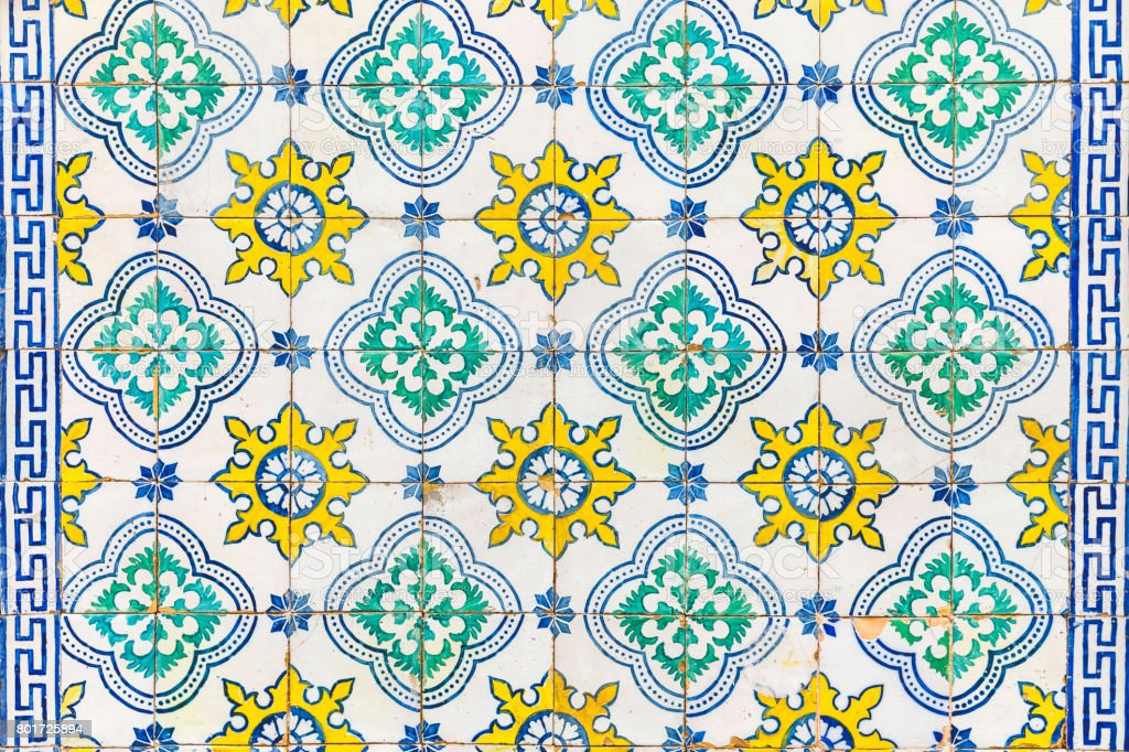 Azulejos tiles on a wall in Lisbon