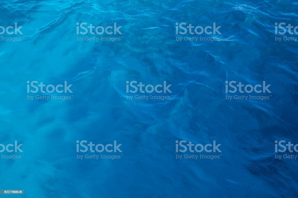 Azure hues of the waters of the red Sea stock photo