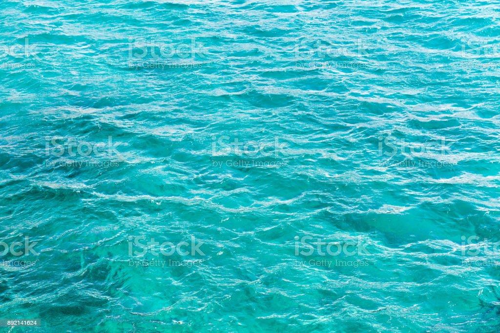 Azurblauen Ozean Wasseroberfläche, natürlichen Hintergrund – Foto