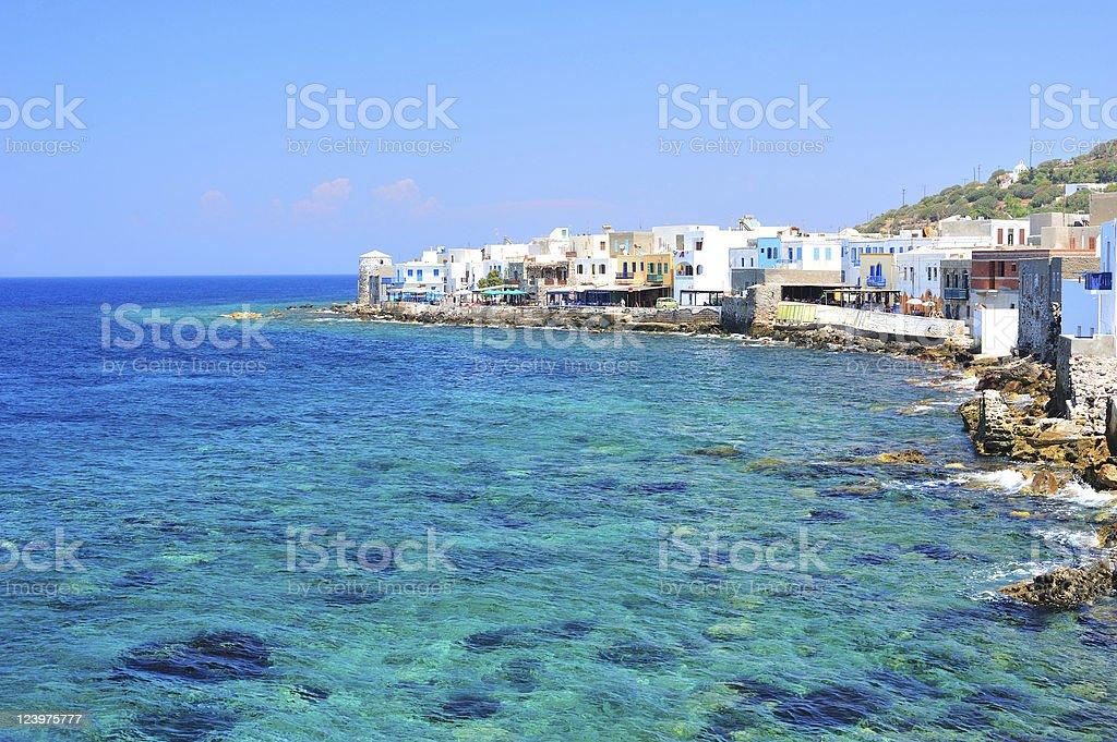 Azure seascape stock photo