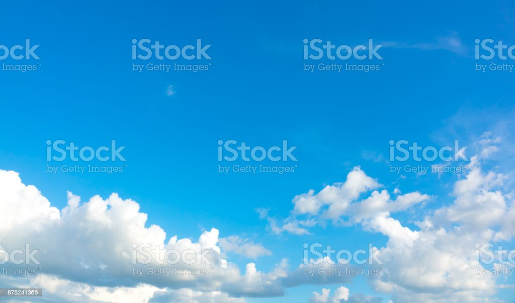 Azure sky and cloud beautiful stock photo