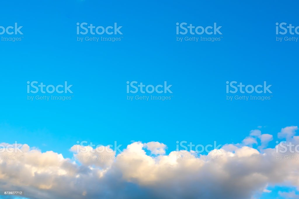 Azure sky or sky blue and bright cloud stock photo