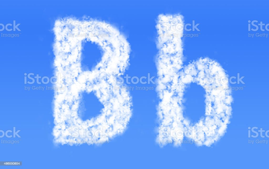 B B Font Cloudsenglish Alphabet From Clouds Stock Photo 486550854
