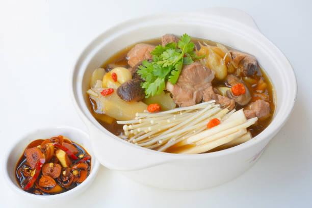 Ba kut teh, stew of pork and herbal soup stock photo