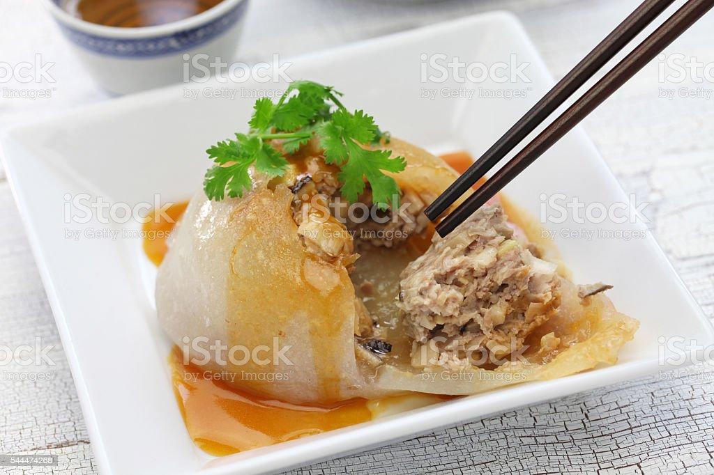 ba wan,bawan,taiwanese mega dumpling ba wan,bawan,taiwanese mega dumpling, street food Bamboo Shoot Stock Photo