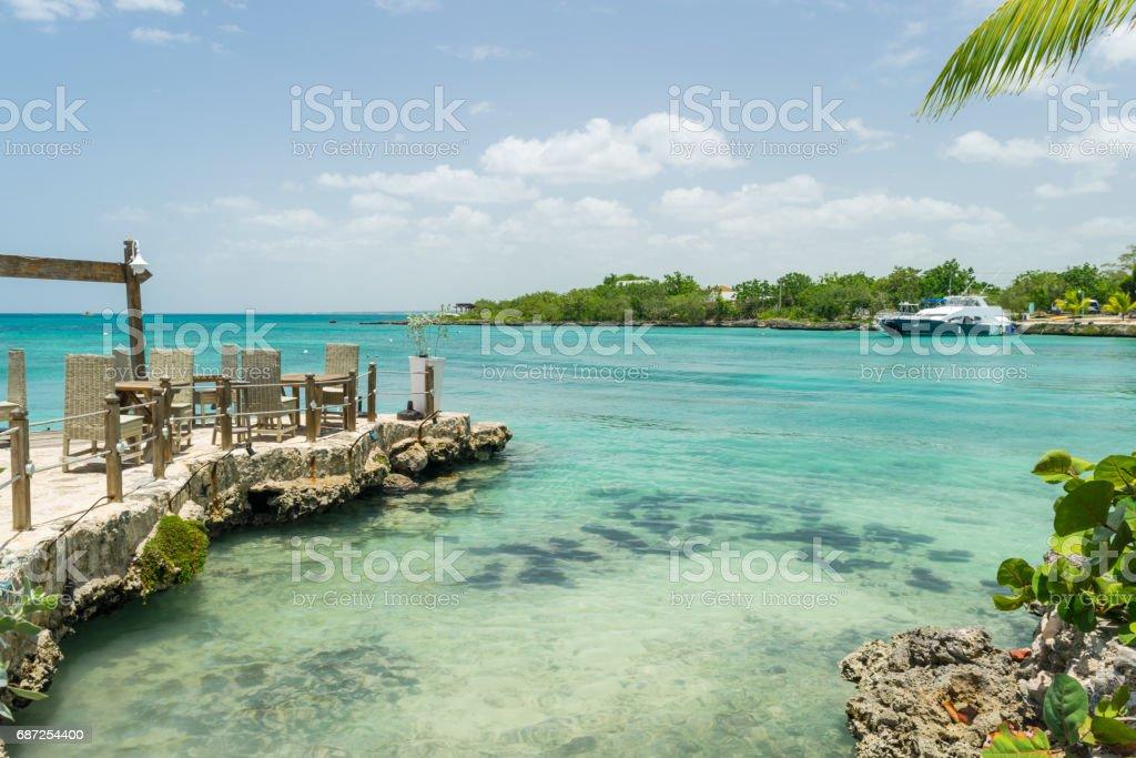 Baía de Bayahíbe - foto de stock