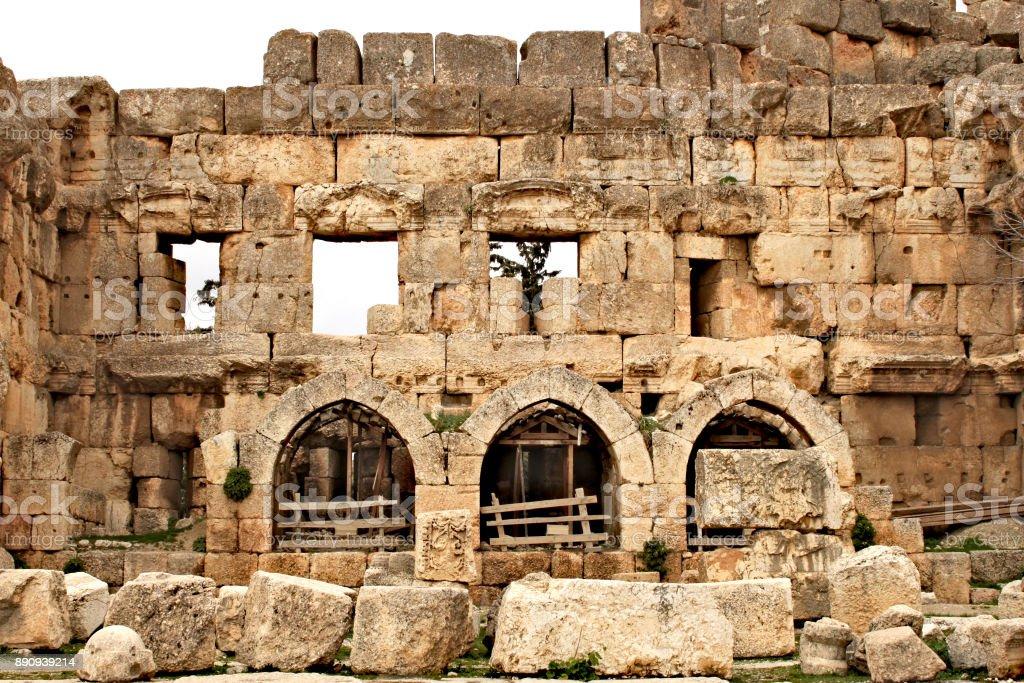 Baalbek - ruins of ancient Phoenician city stock photo