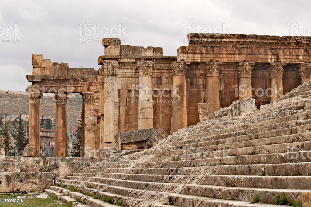 Baalbek - ruins of the ancient Phoenician city stock photo