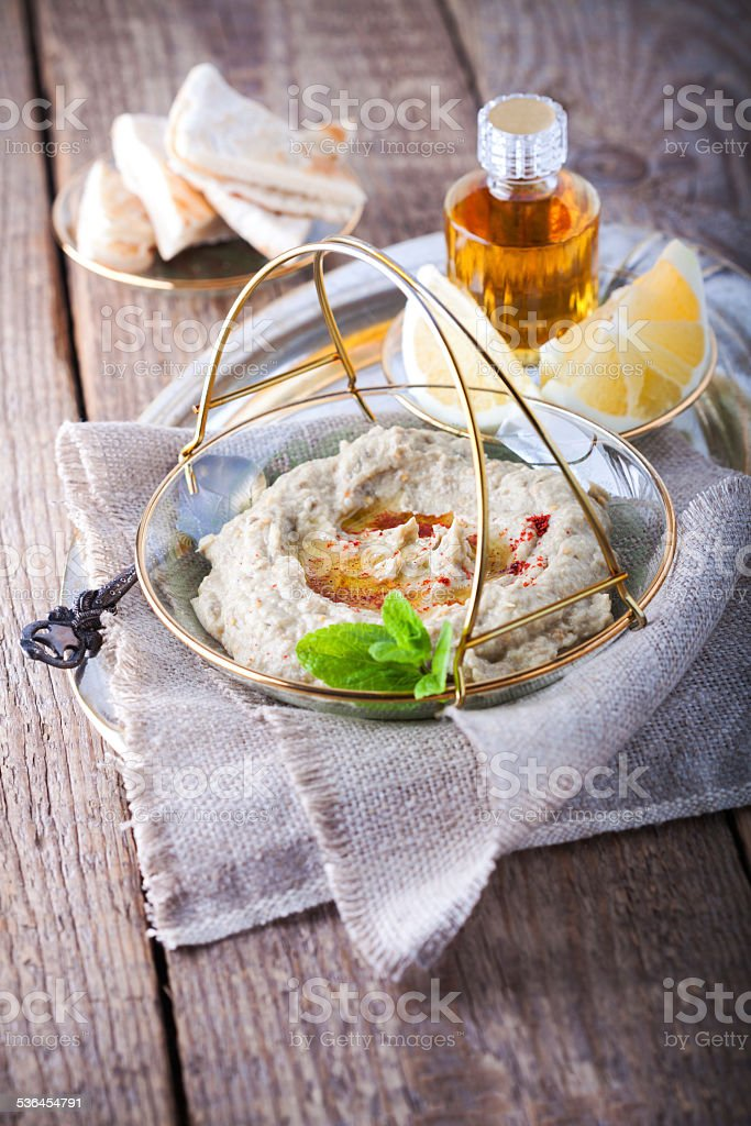 Baba Ghanoush stock photo