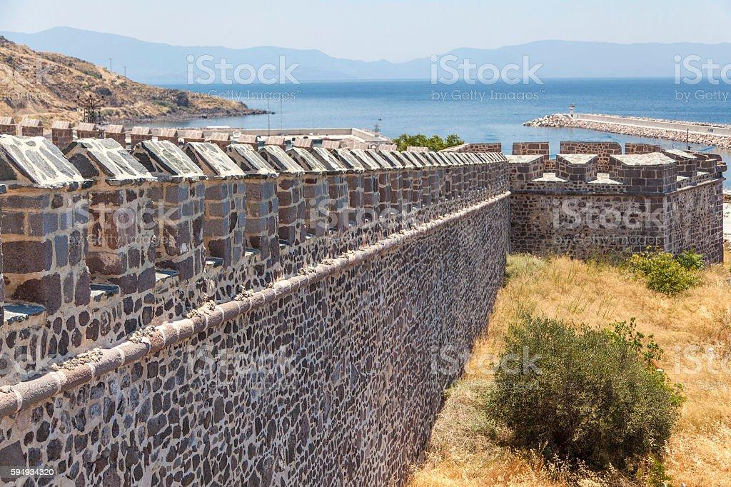 Babakale Castle Lektos stock photo