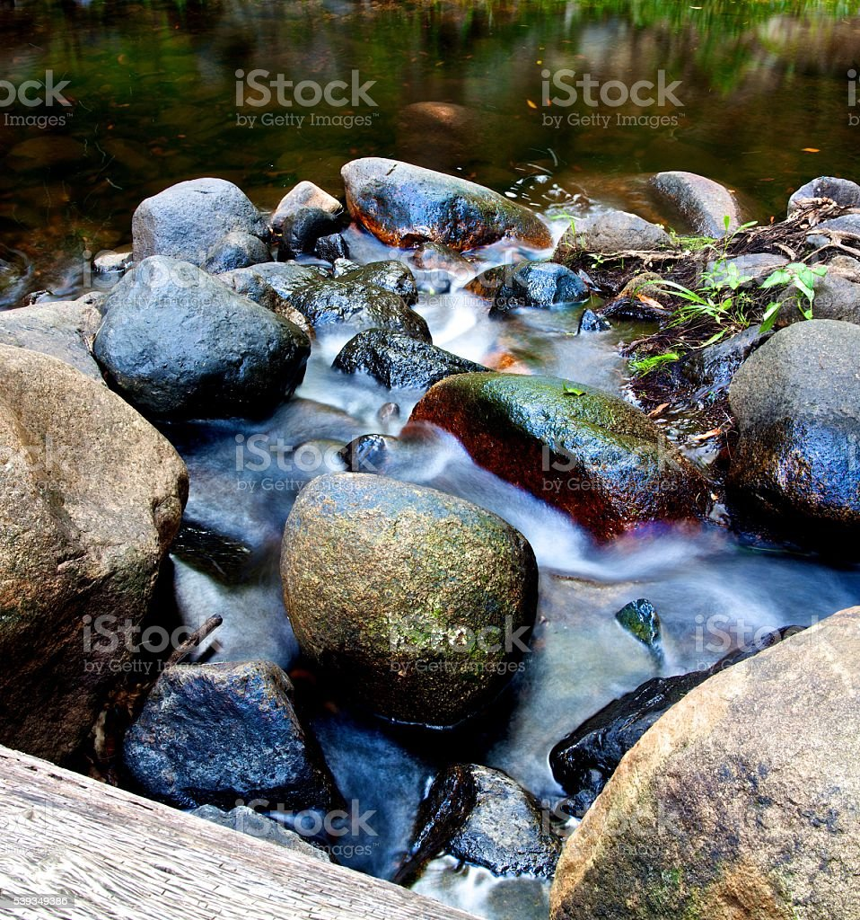 Babbling Boulders stock photo