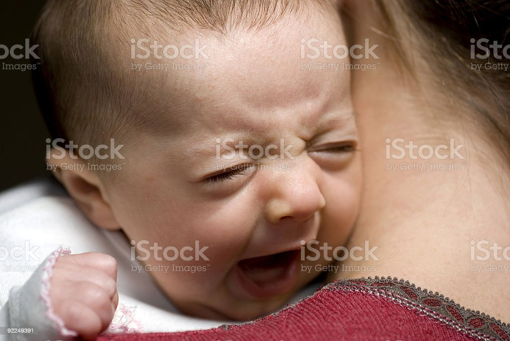 Babe in arms 3 - the yawn stock photo
