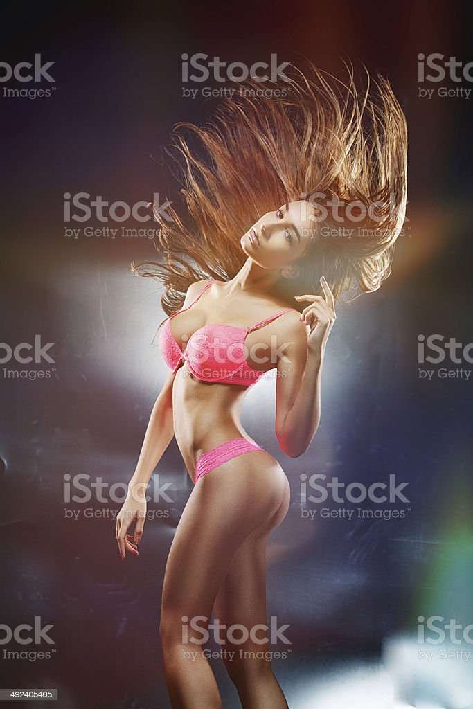 Babe in motion stock photo