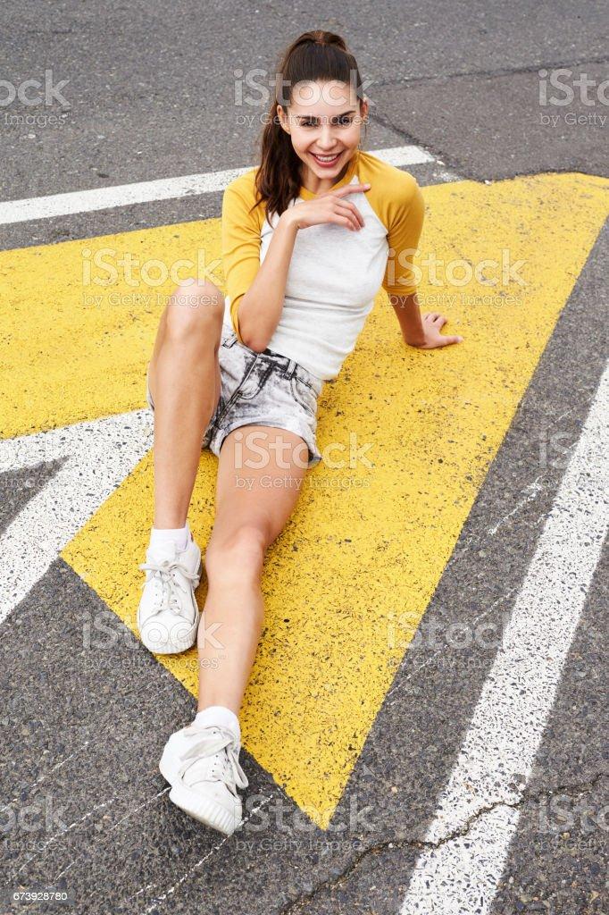 Babe in the road photo libre de droits