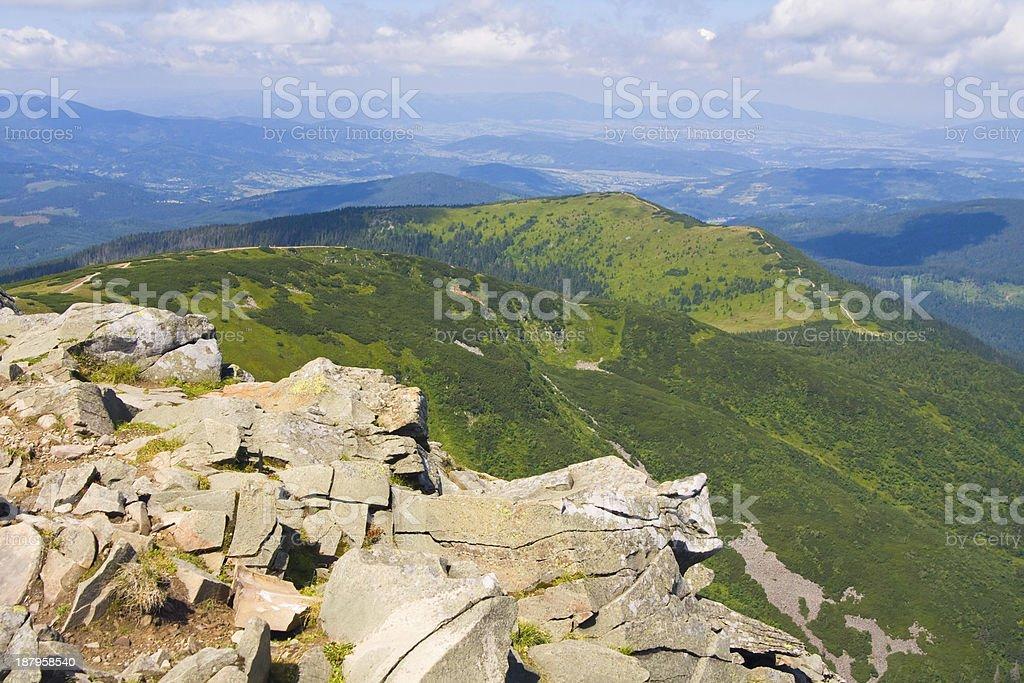 Babia Gora mountain, Poland royalty-free stock photo