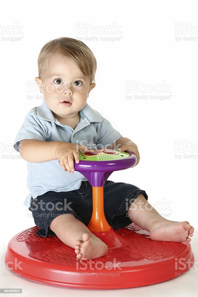 Babies and Toys royalty-free stock photo