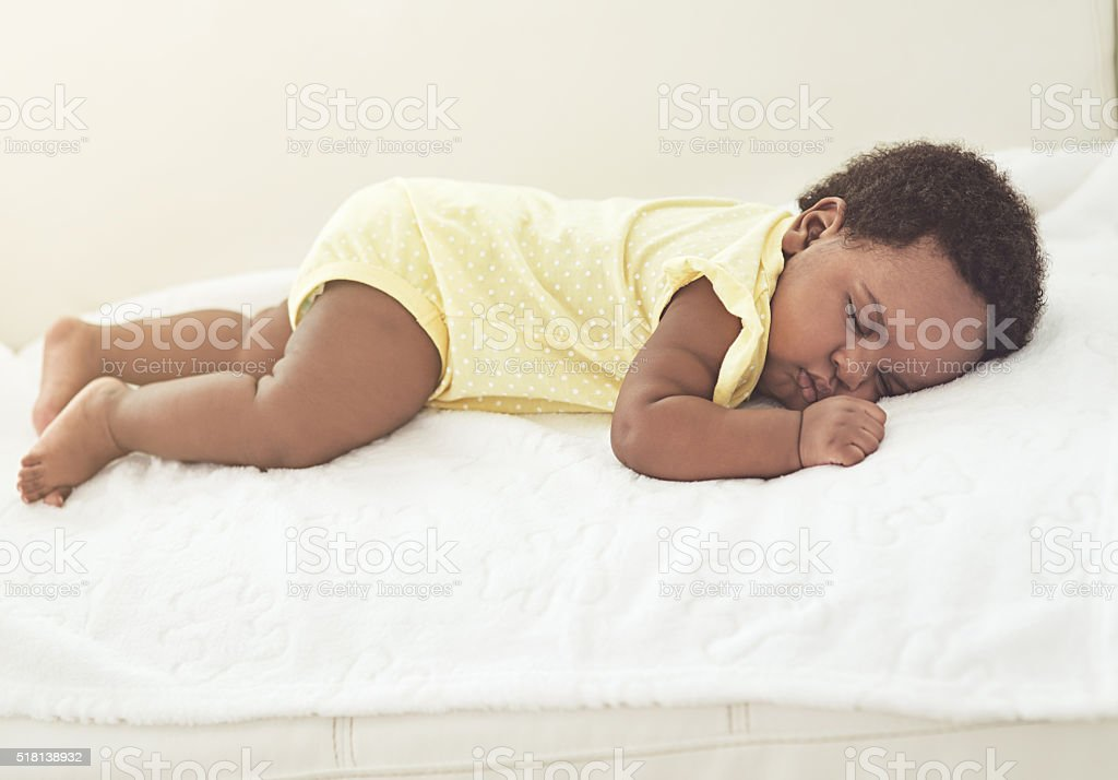 Babies need lots of rest stock photo