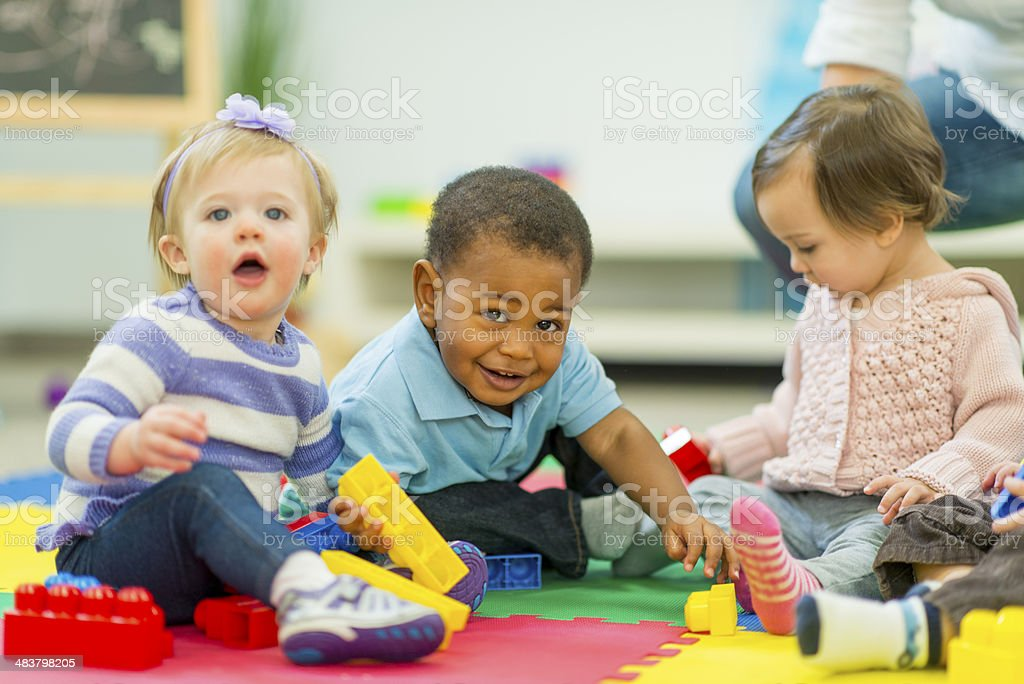 Babies Playing stock photo