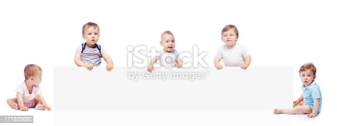 istock Babies with banner 171320032