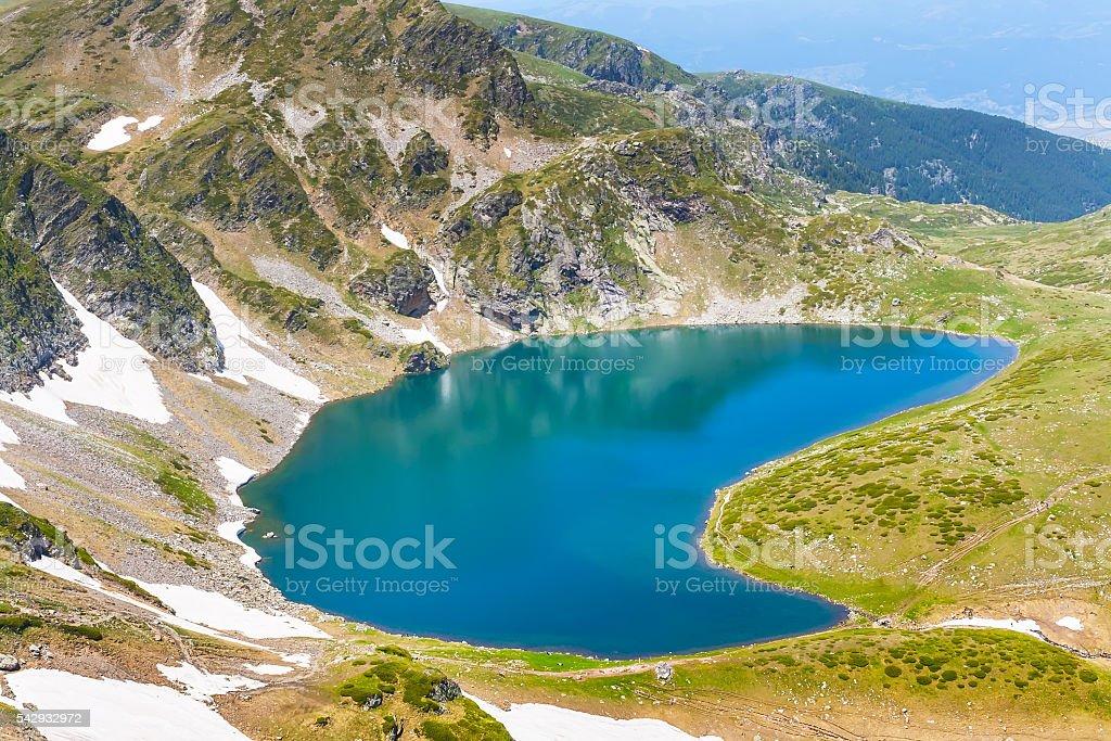 Babreka, one of Seven Rila Lakes, Bulgaria stock photo