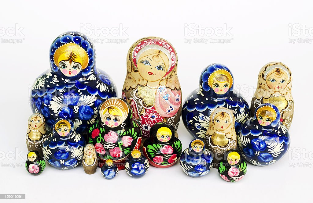 Babushka nesting dolls stock photo