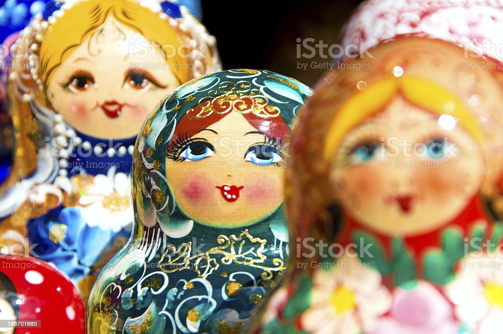 Babushka or Matryoshka Nesting Russian Dolls royalty-free stock photo