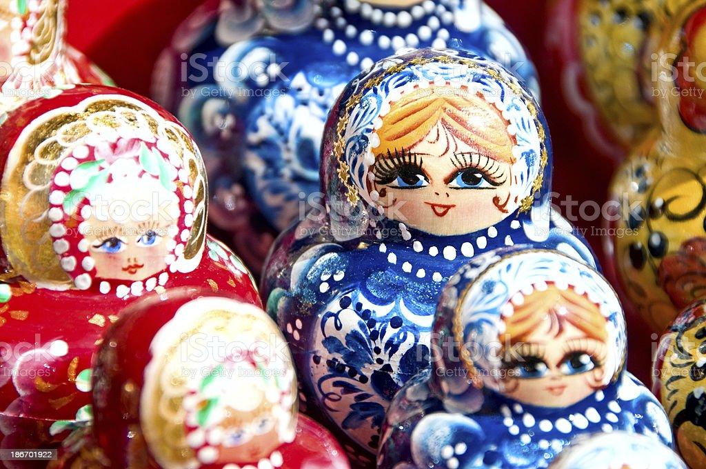 Babushka or Matryoshka Nesting Russian Dolls royalty-free stock photo