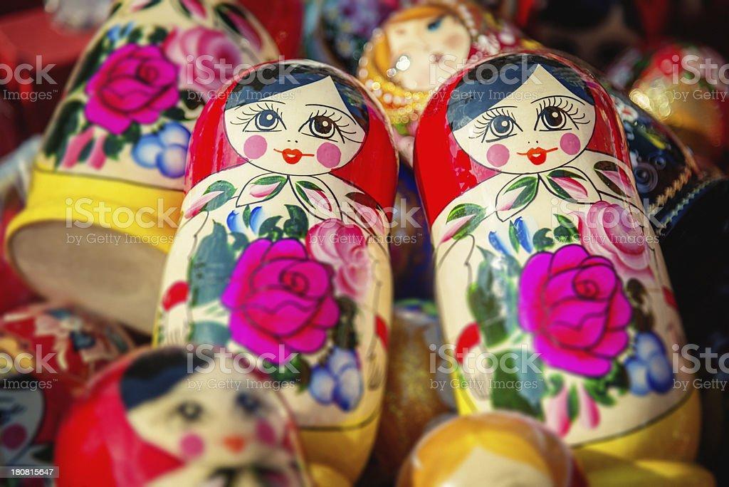 Babushka Russian Nesting Doll, Matryoshka royalty-free stock photo