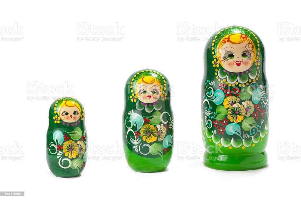 babuska dolls royalty-free stock photo