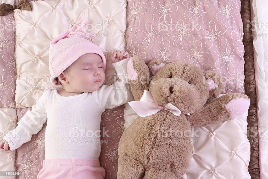 baby and bear royalty-free stock photo