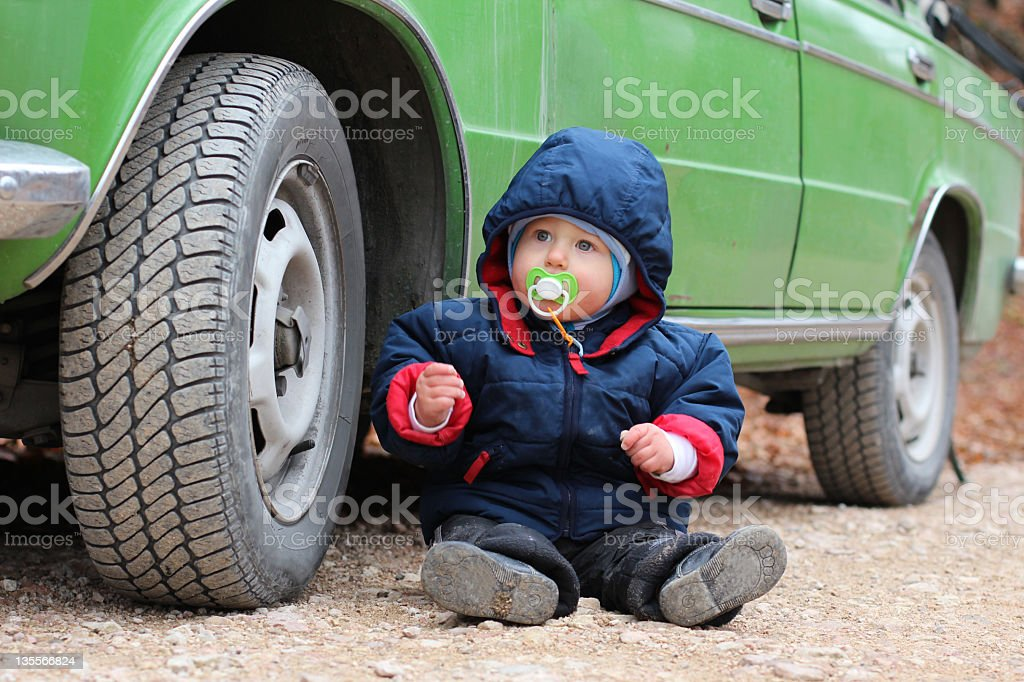 baby and car royalty-free stock photo